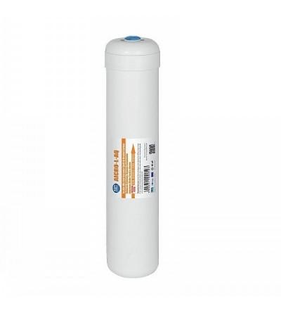 """Filtro in linea GAC (Carbone Attivo Granulare) 2,5"""" X 12"""" - ATT. 1/4"""" F - Made in EU"""
